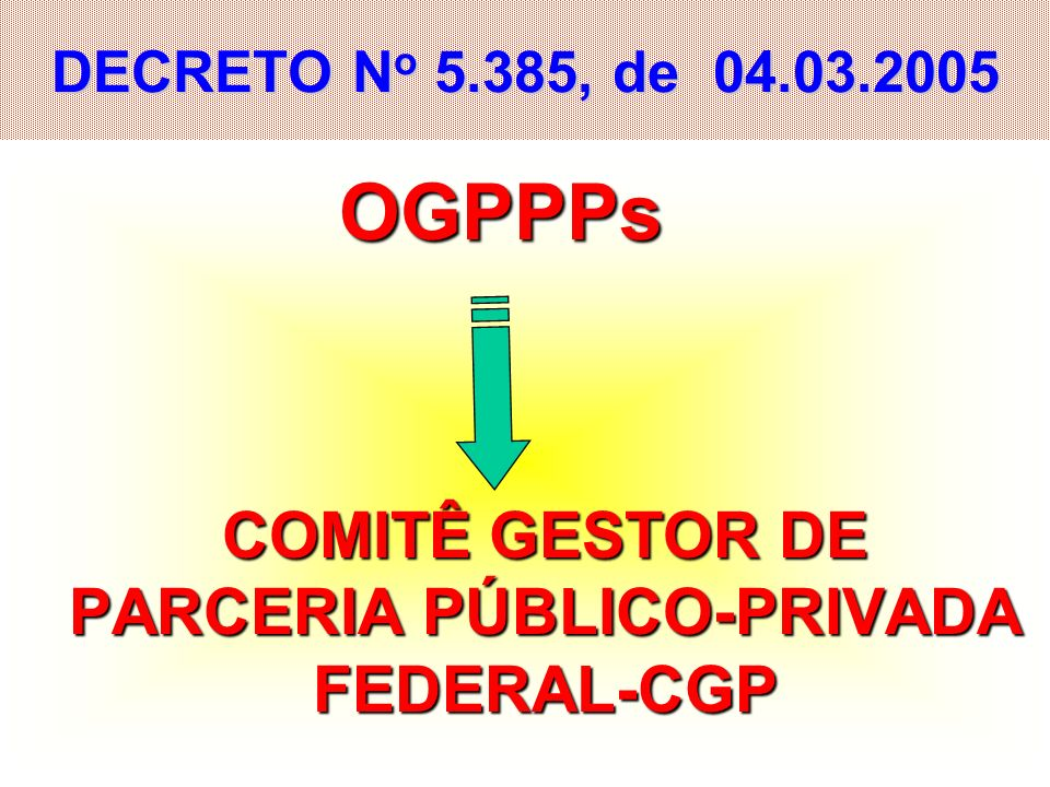 COMITÊ GESTOR DE PARCERIA PÚBLICO-PRIVADA FEDERAL-CGP