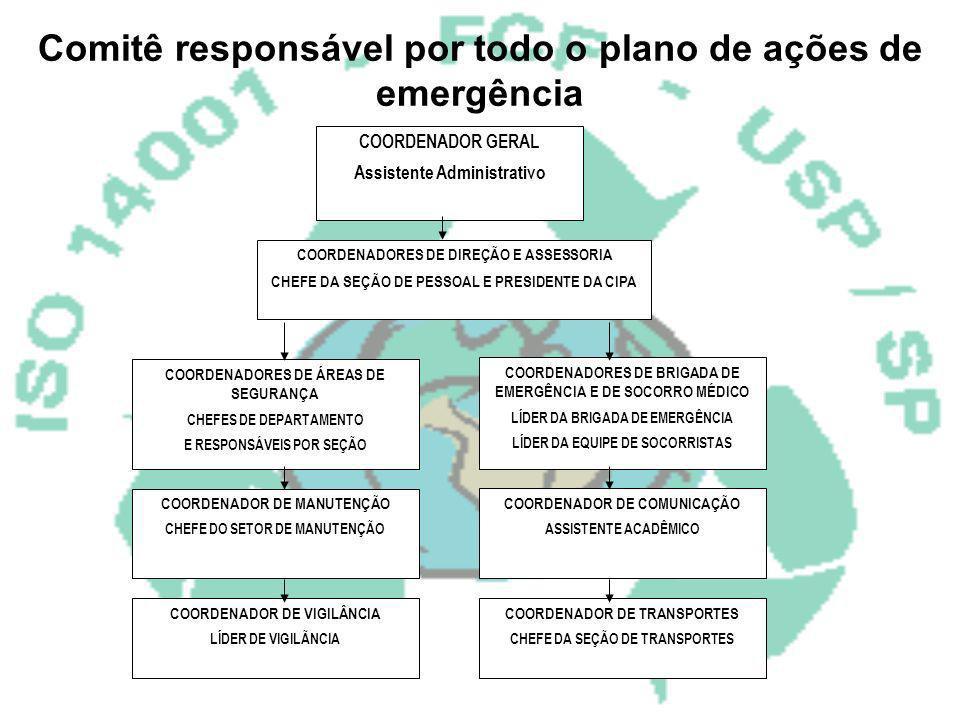 Comitê responsável por todo o plano de ações de emergência