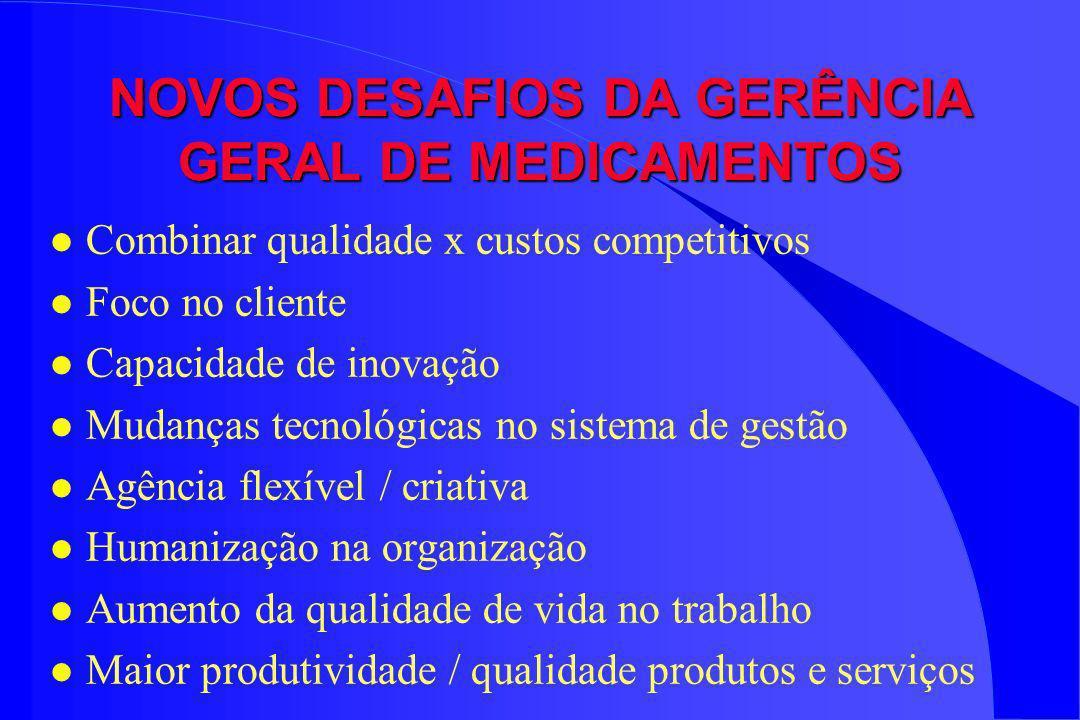 NOVOS DESAFIOS DA GERÊNCIA GERAL DE MEDICAMENTOS