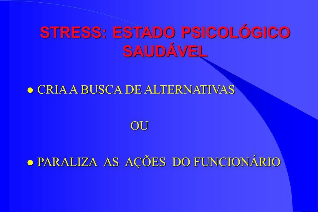 STRESS: ESTADO PSICOLÓGICO SAUDÁVEL