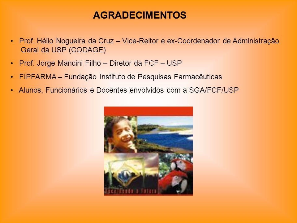 AGRADECIMENTOS Prof. Hélio Nogueira da Cruz – Vice-Reitor e ex-Coordenador de Administração Geral da USP (CODAGE)