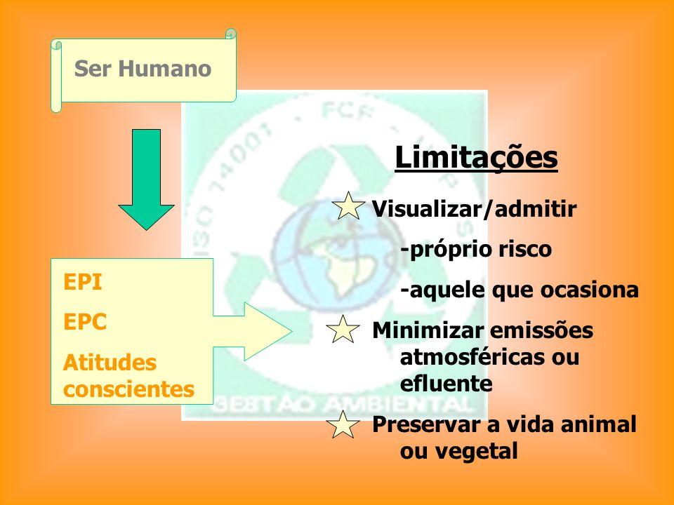 Limitações Ser Humano Visualizar/admitir -próprio risco