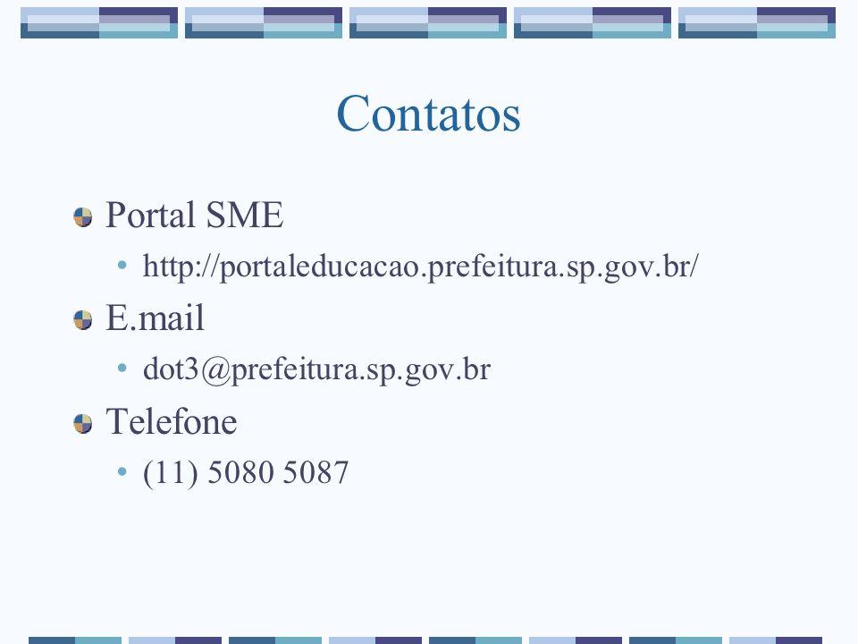 Contatos Portal SME E.mail Telefone