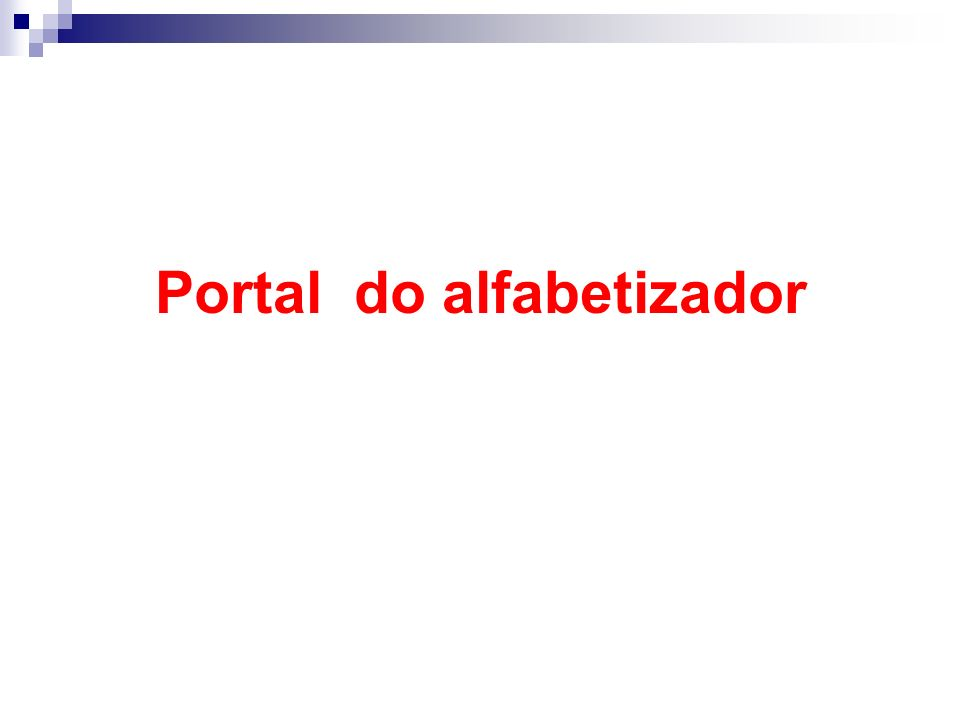 Portal do alfabetizador