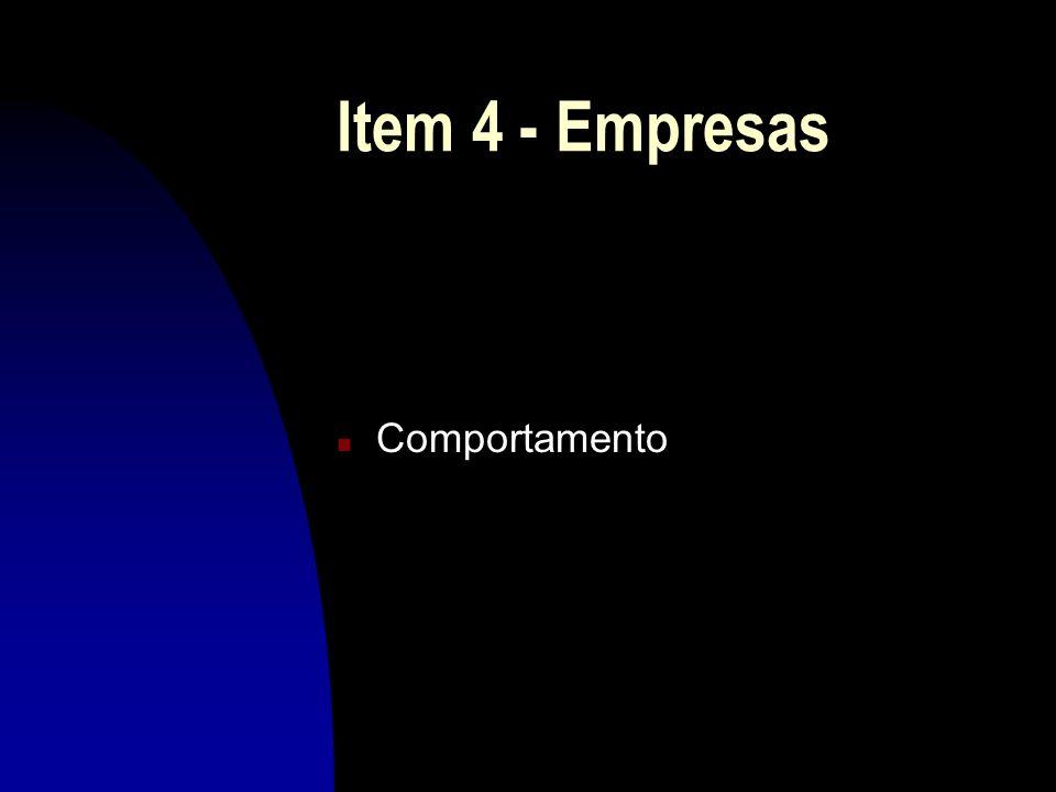 Item 4 - Empresas Comportamento