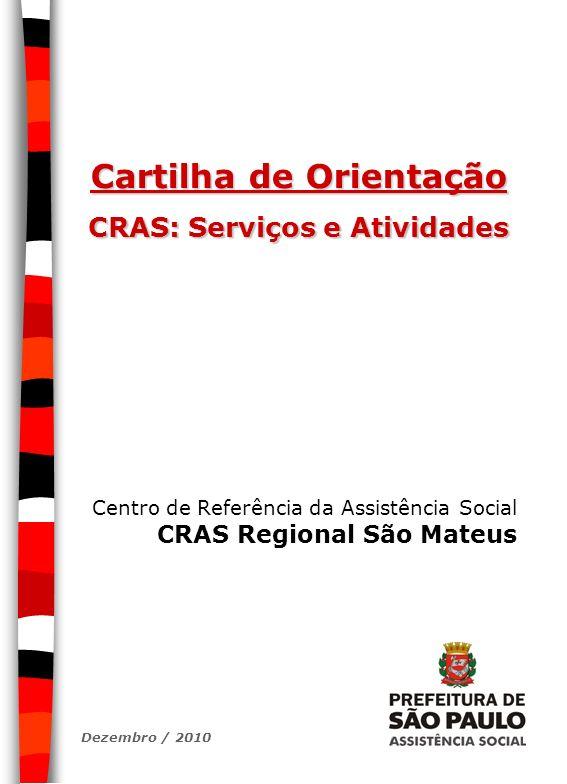Cartilha de Orientação CRAS: Serviços e Atividades