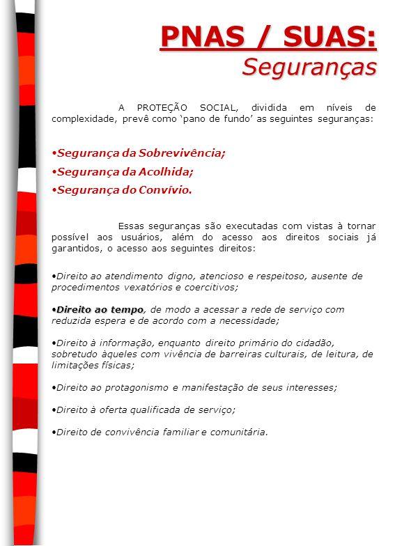 PNAS / SUAS: Seguranças