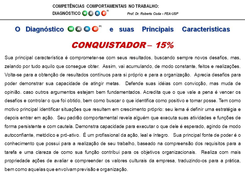 CONQUISTADOR – 15%