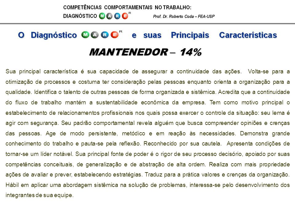 MANTENEDOR – 14%