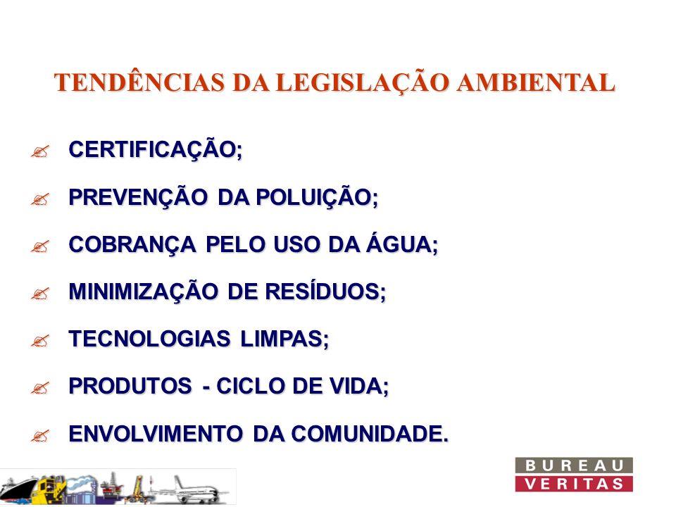 TENDÊNCIAS DA LEGISLAÇÃO AMBIENTAL