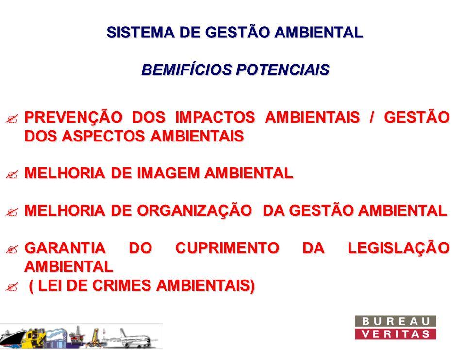 SISTEMA DE GESTÃO AMBIENTAL BEMIFÍCIOS POTENCIAIS