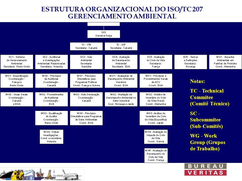 ESTRUTURA ORGANIZACIONAL DO ISO/TC 207 GERENCIAMENTO AMBIENTAL