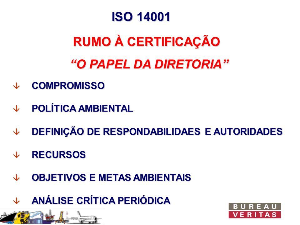 ISO 14001 RUMO À CERTIFICAÇÃO O PAPEL DA DIRETORIA