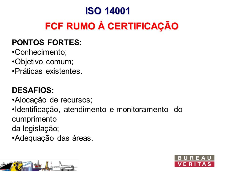 FCF RUMO À CERTIFICAÇÃO