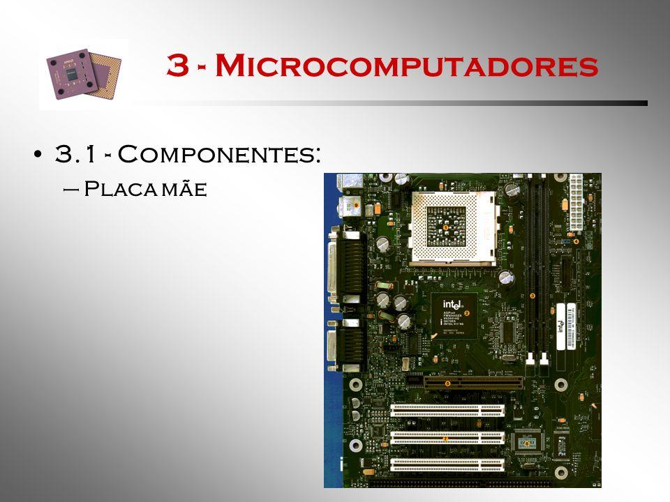 3 - Microcomputadores 3.1 - Componentes: Placa mãe
