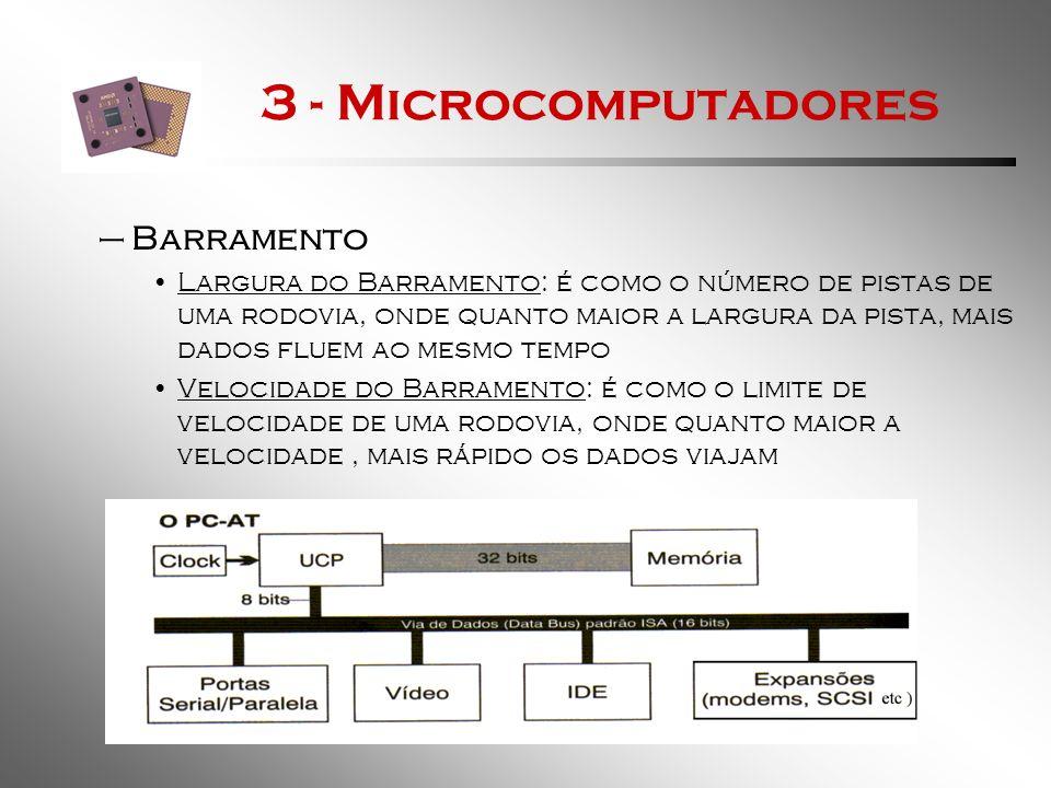 3 - Microcomputadores Barramento