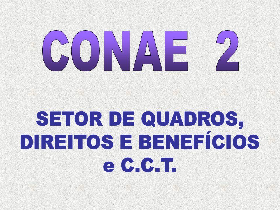 CONAE 2 SETOR DE QUADROS, DIREITOS E BENEFÍCIOS e C.C.T.