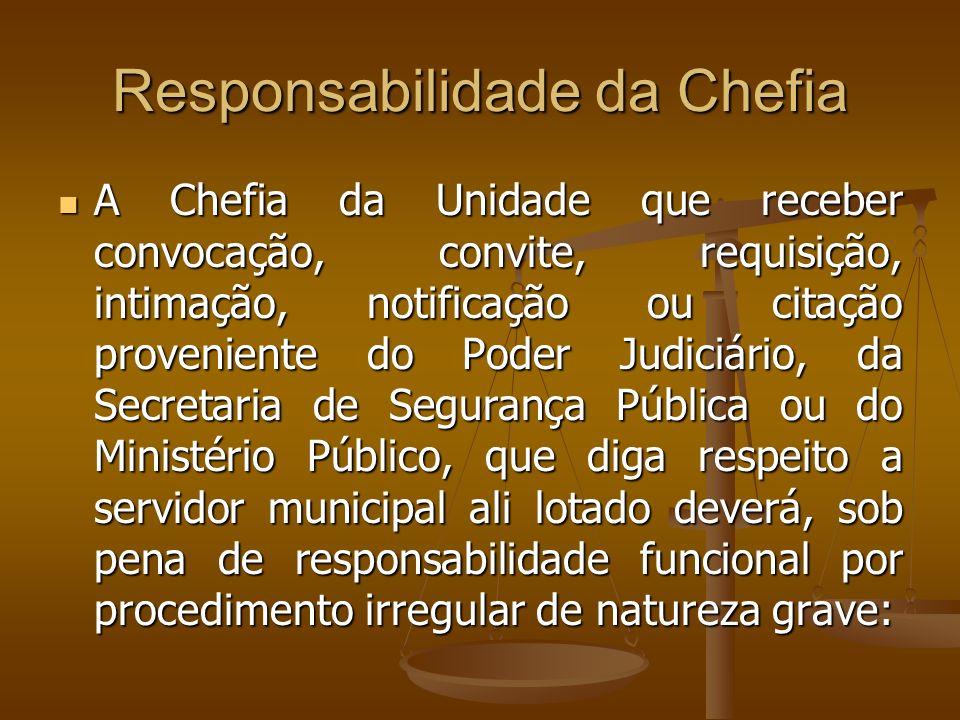 Responsabilidade da Chefia