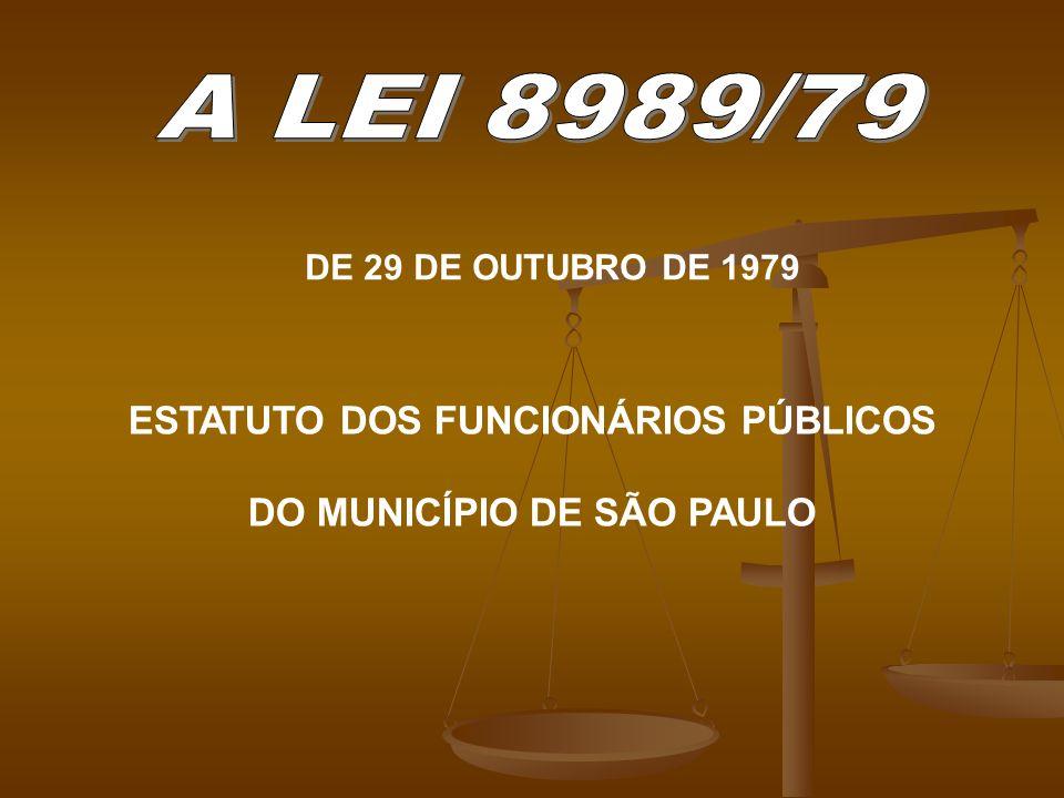 ESTATUTO DOS FUNCIONÁRIOS PÚBLICOS DO MUNICÍPIO DE SÃO PAULO