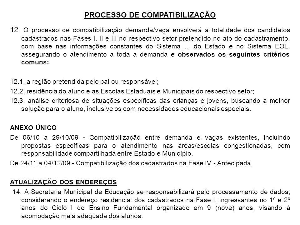 PROCESSO DE COMPATIBILIZAÇÃO