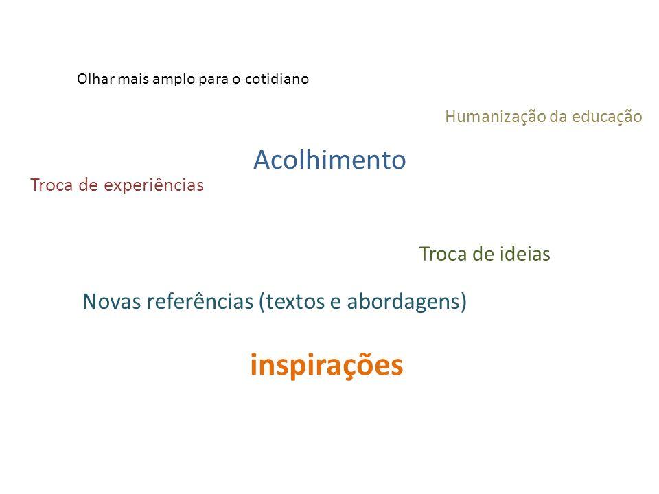 inspirações Acolhimento Novas referências (textos e abordagens)