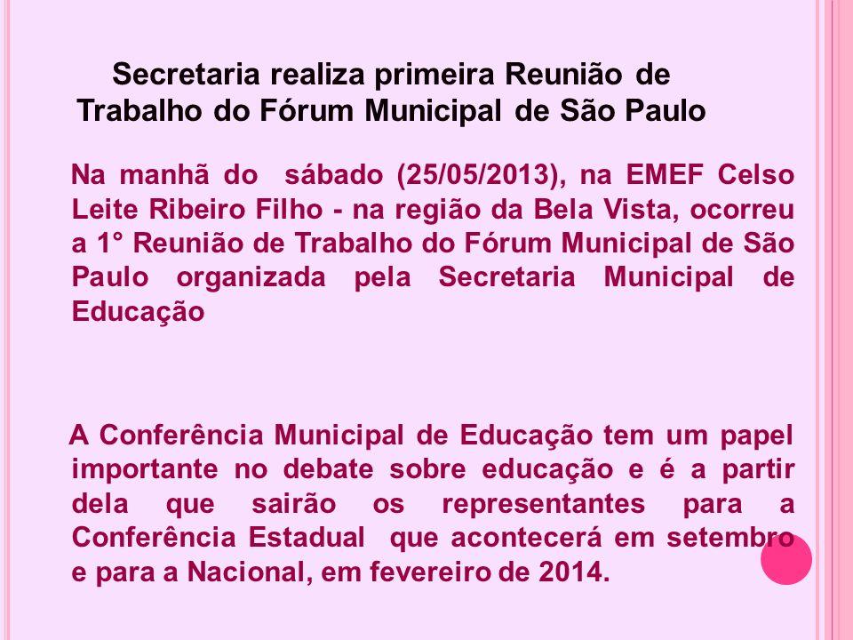 Secretaria realiza primeira Reunião de Trabalho do Fórum Municipal de São Paulo