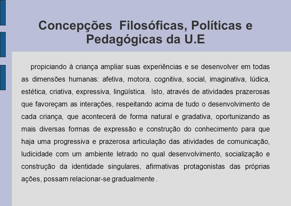 Concepções Filosóficas, Políticas e Pedagógicas da U.E