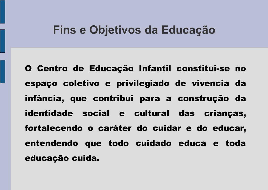 Fins e Objetivos da Educação