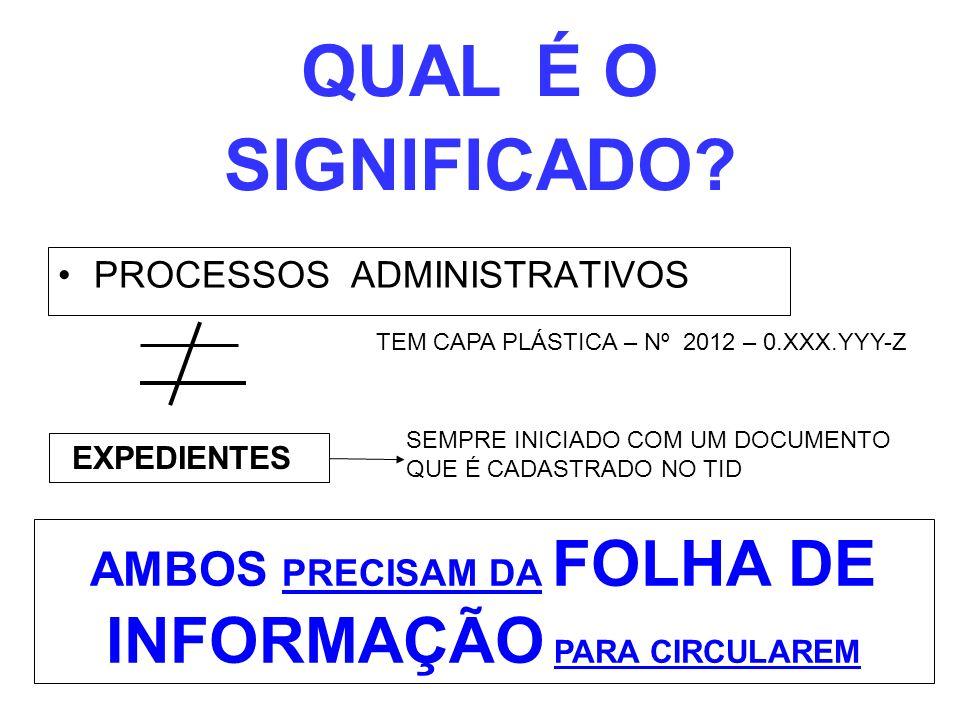 AMBOS PRECISAM DA FOLHA DE INFORMAÇÃO PARA CIRCULAREM