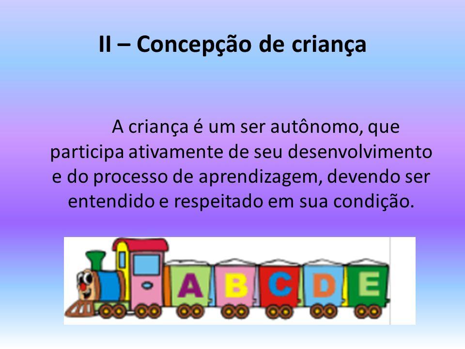 II – Concepção de criança