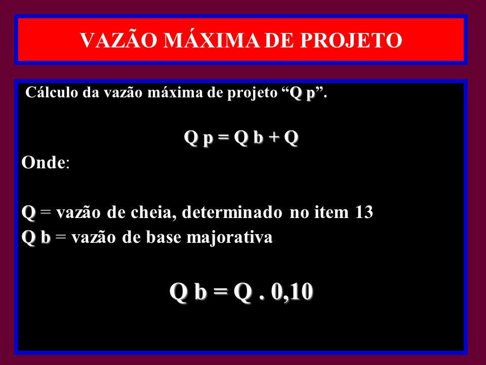VAZÃO MÁXIMA DE PROJETO