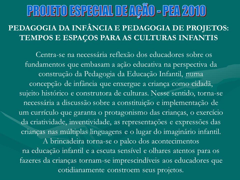 PROJETO ESPECIAL DE AÇÃO - PEA 2010