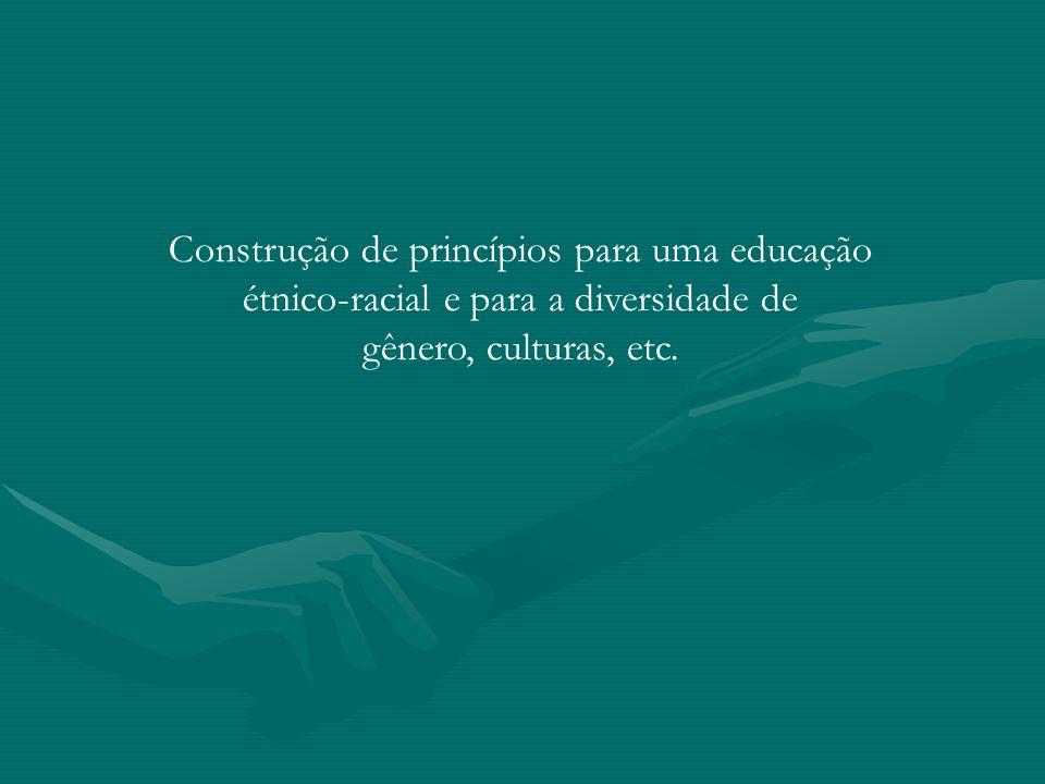 Construção de princípios para uma educação