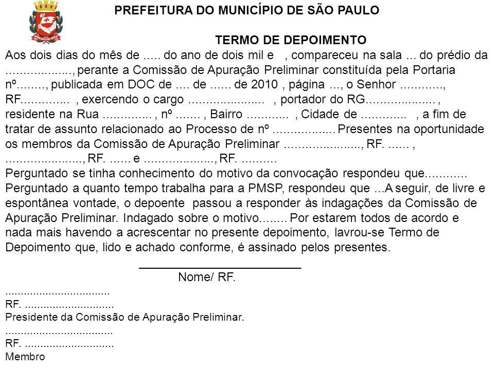 PREFEITURA DO MUNICÍPIO DE SÃO PAULO