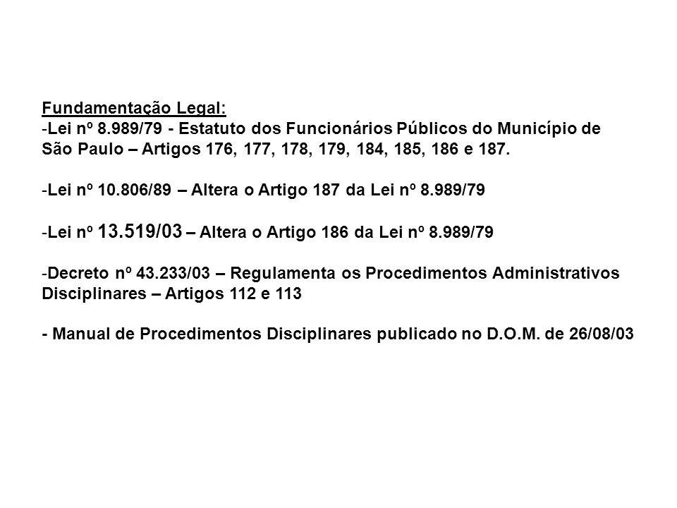 Fundamentação Legal: