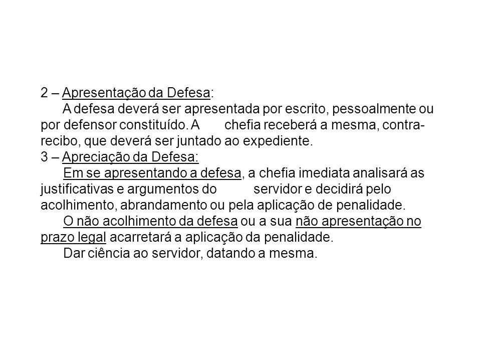 2 – Apresentação da Defesa:
