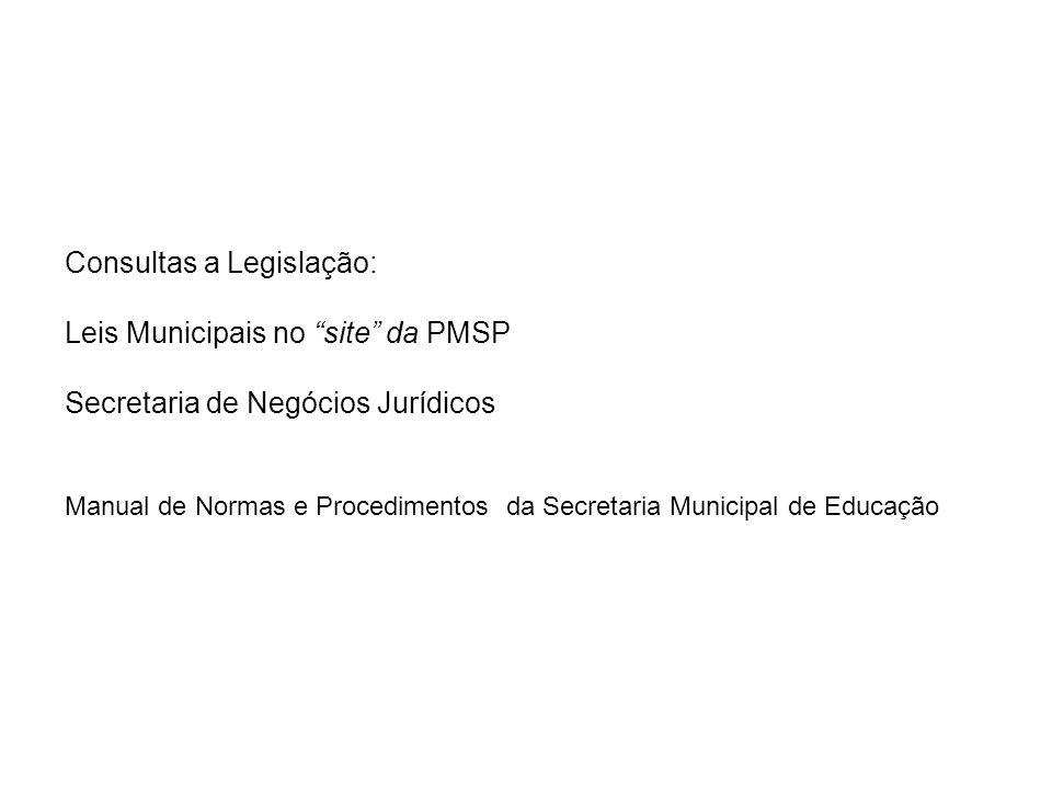 Consultas a Legislação: Leis Municipais no site da PMSP