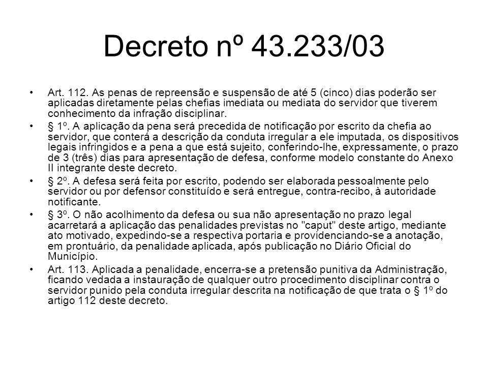 Decreto nº 43.233/03