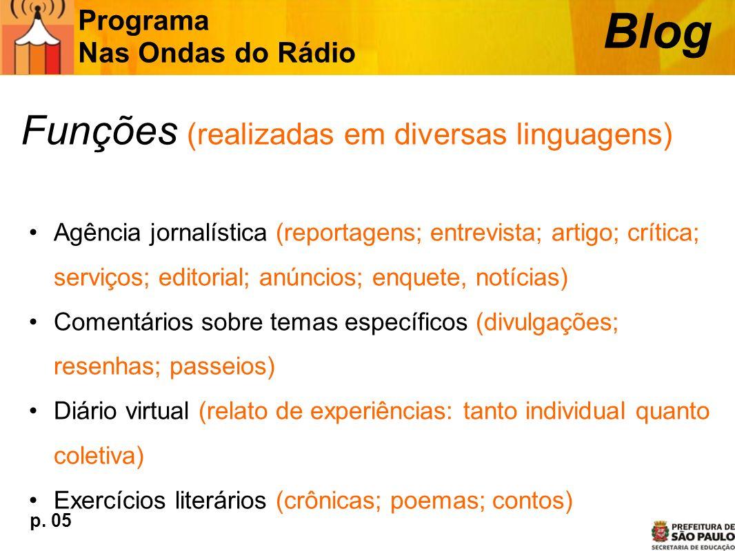 Blog Funções (realizadas em diversas linguagens)