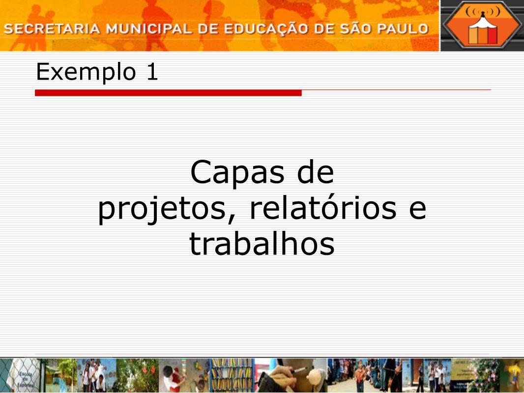 Capas de projetos, relatórios e trabalhos