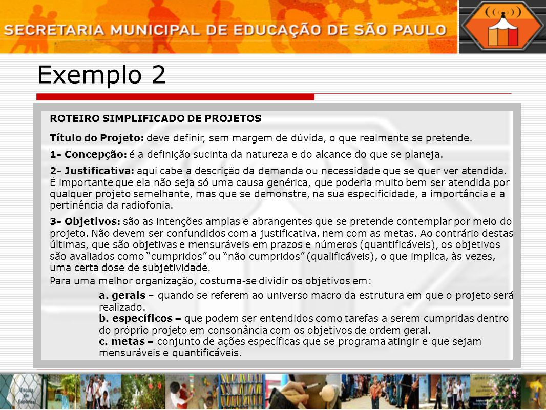 Exemplo 2 ROTEIRO SIMPLIFICADO DE PROJETOS