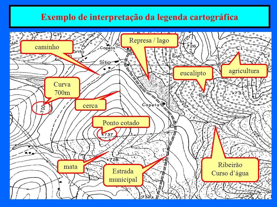 Exemplo de interpretação da legenda cartográfica