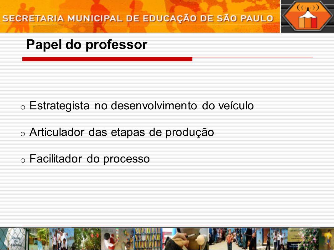 Papel do professor Estrategista no desenvolvimento do veículo