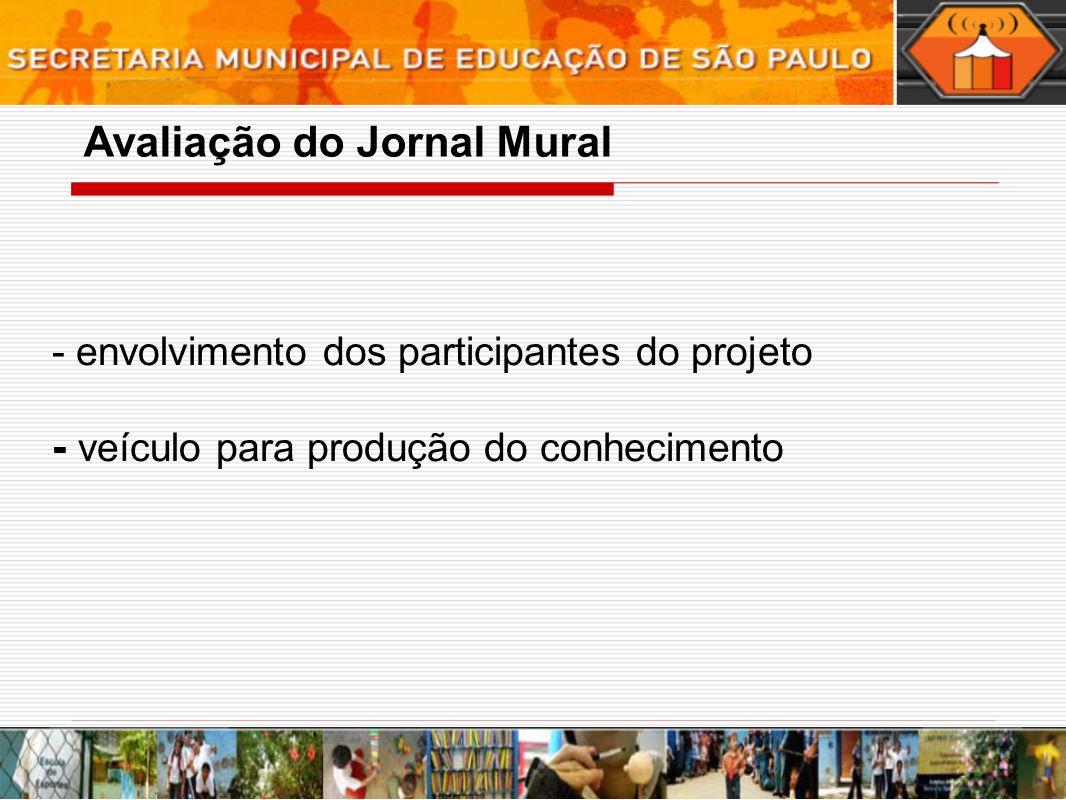Avaliação do Jornal Mural