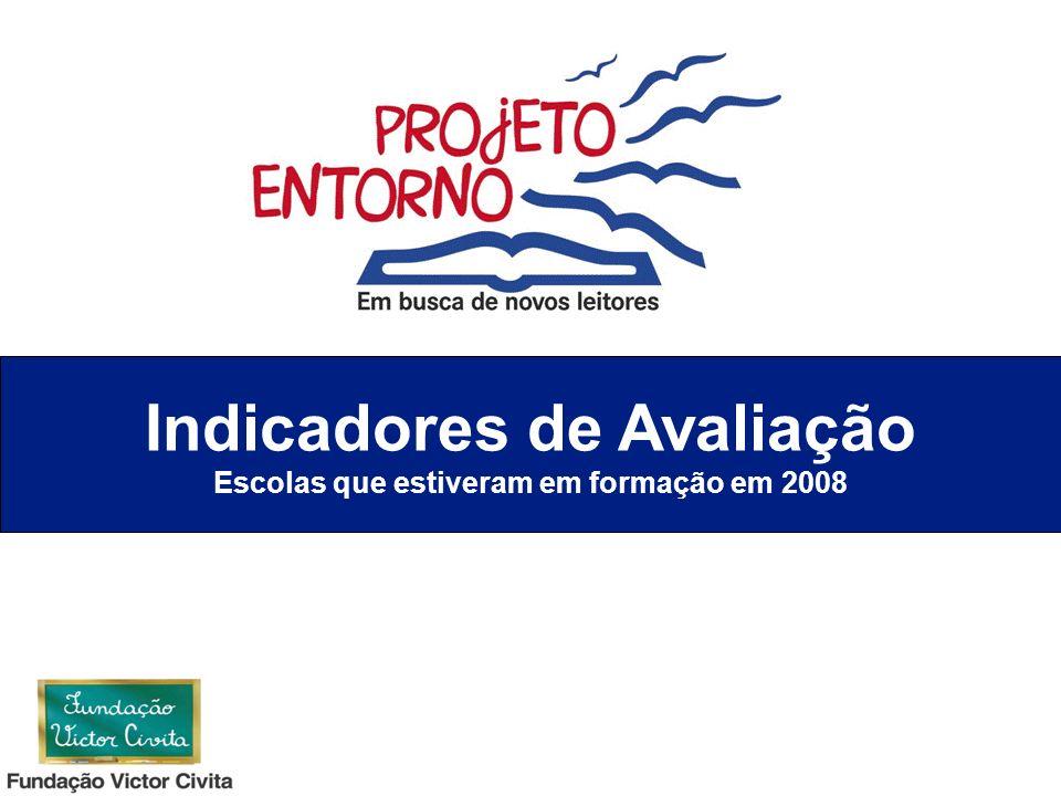 Indicadores de Avaliação Escolas que estiveram em formação em 2008