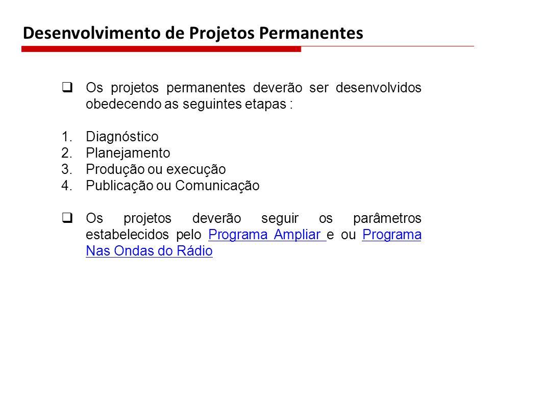 Desenvolvimento de Projetos Permanentes