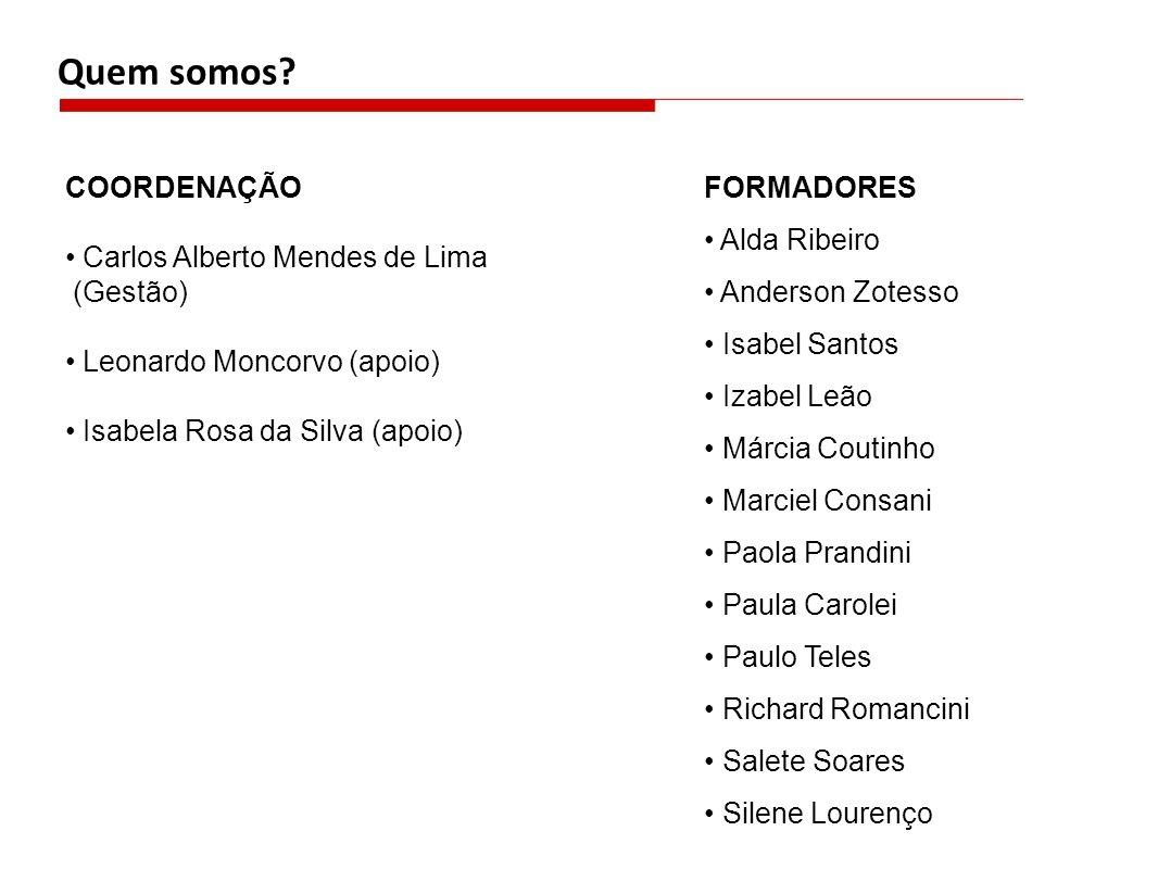 Quem somos FORMADORES COORDENAÇÃO • Alda Ribeiro
