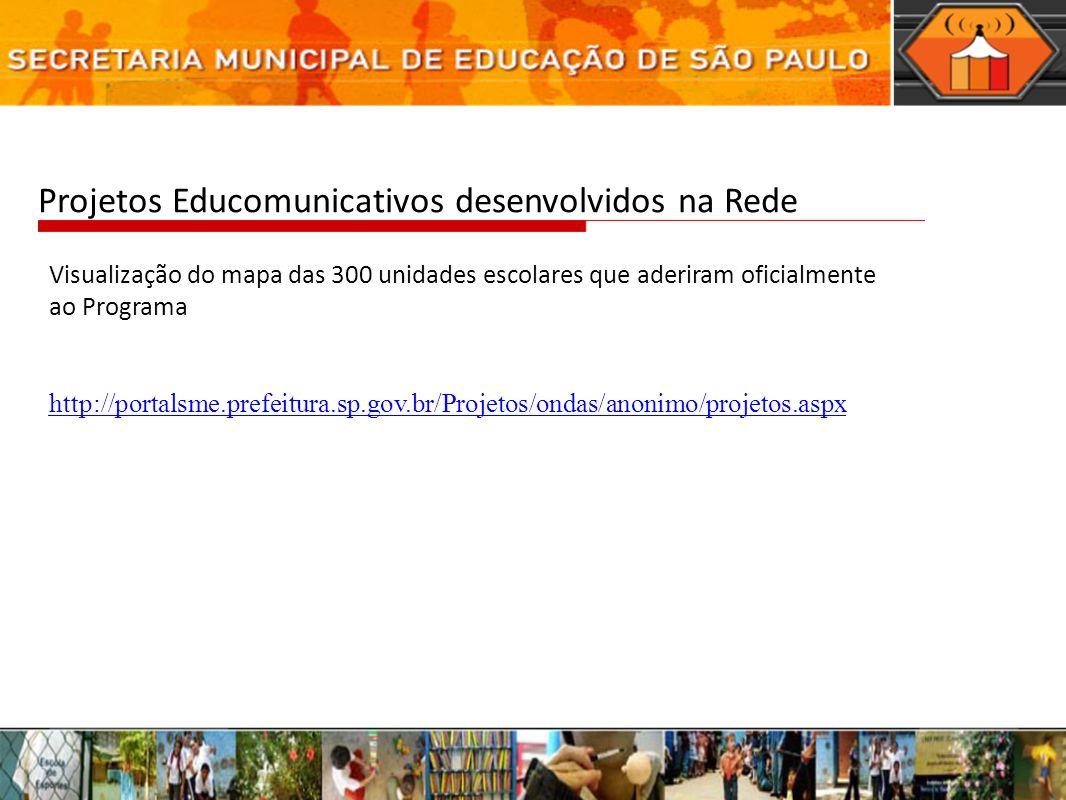 Projetos Educomunicativos desenvolvidos na Rede
