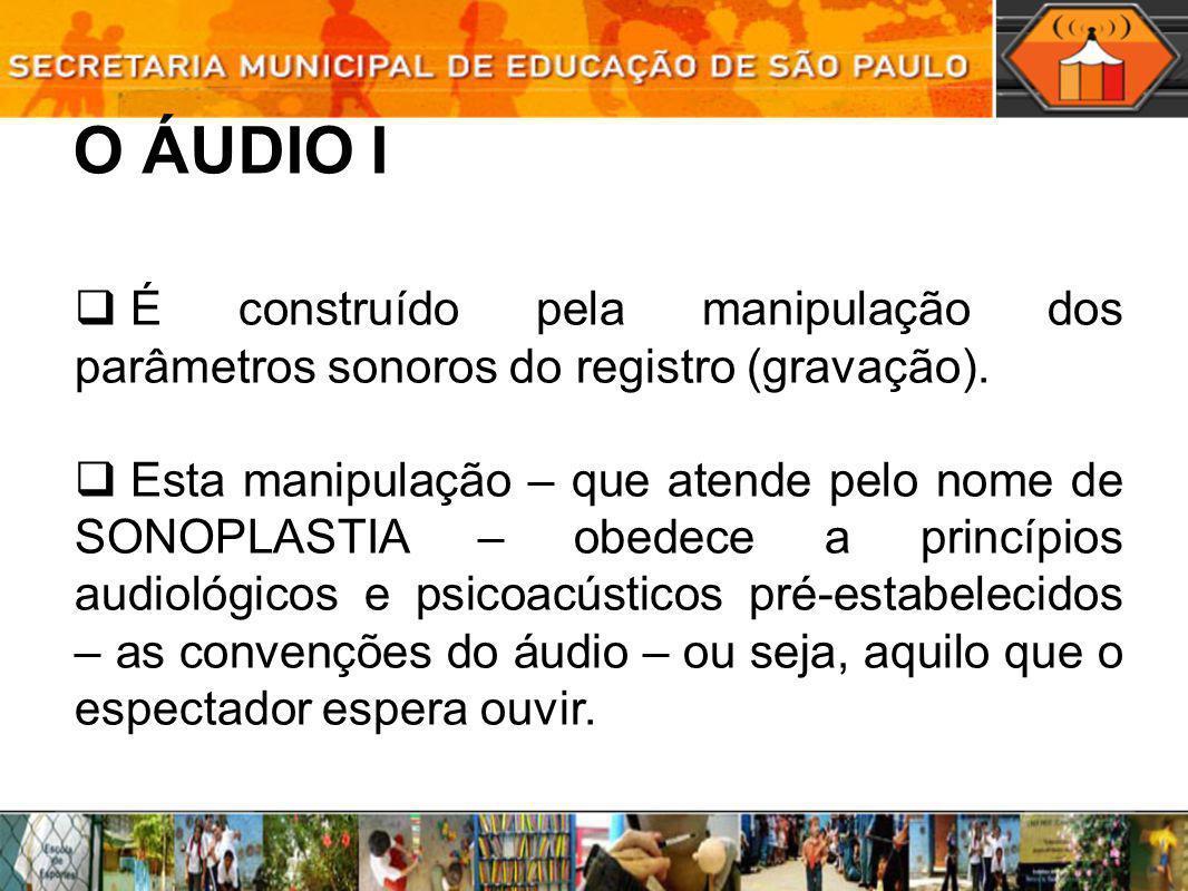 O ÁUDIO IÉ construído pela manipulação dos parâmetros sonoros do registro (gravação).