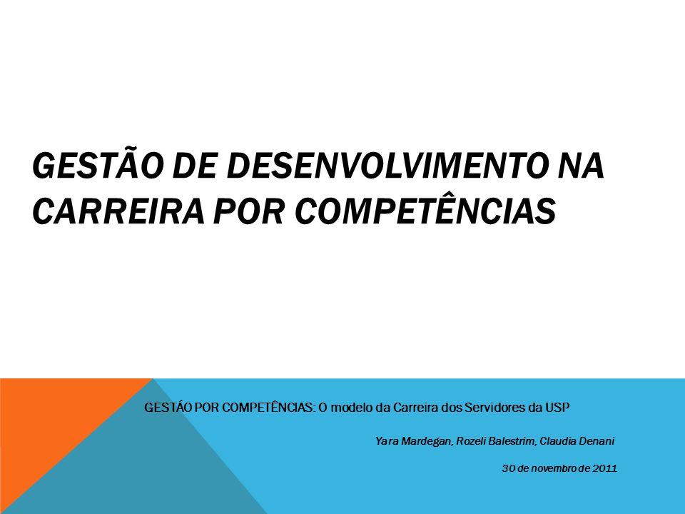 GESTÃO DE DESENVOLVIMENTO NA CARREIRA POR COMPETÊNCIAS